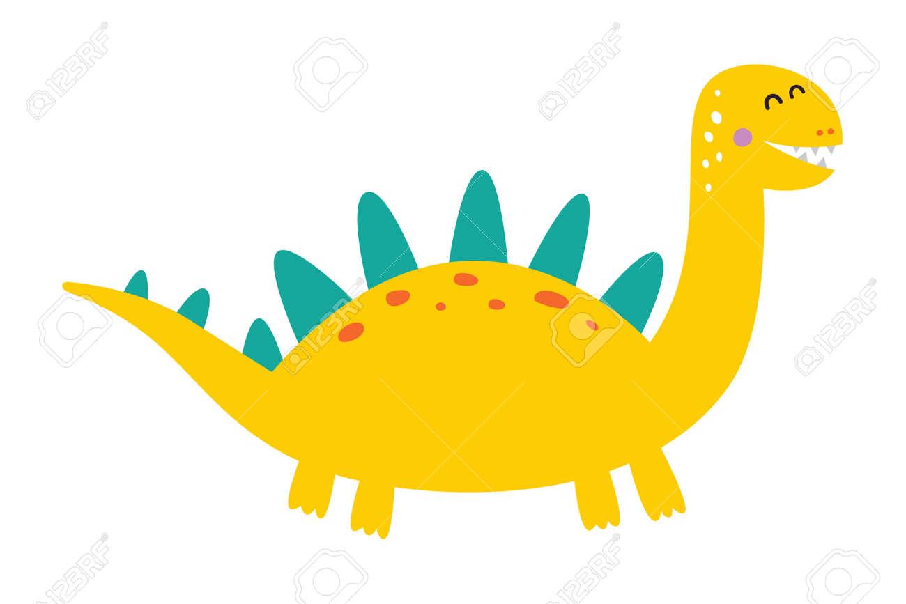 Cute dinosaur drawn as vector for kids fashion. - 169771745