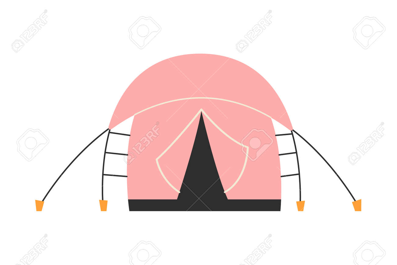 The only canvas tent on a white background. Vector illustration. - 169771940