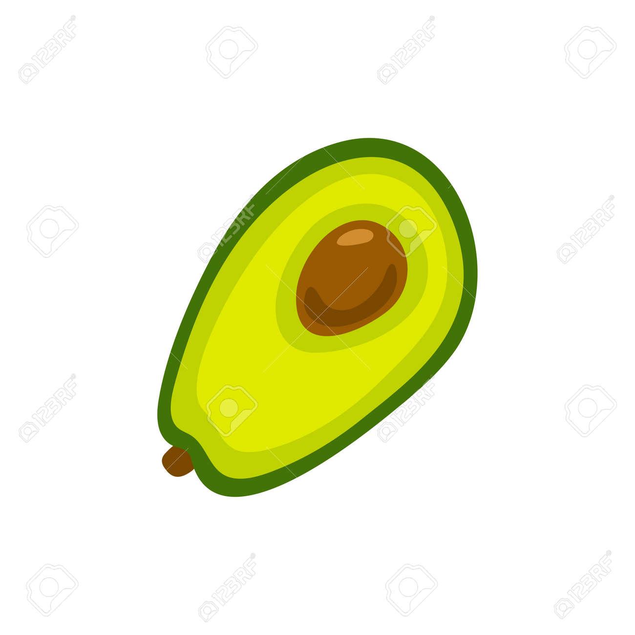 Avocado icon. Flat illustration of avocado vector icon isolated on white background. - 169771950