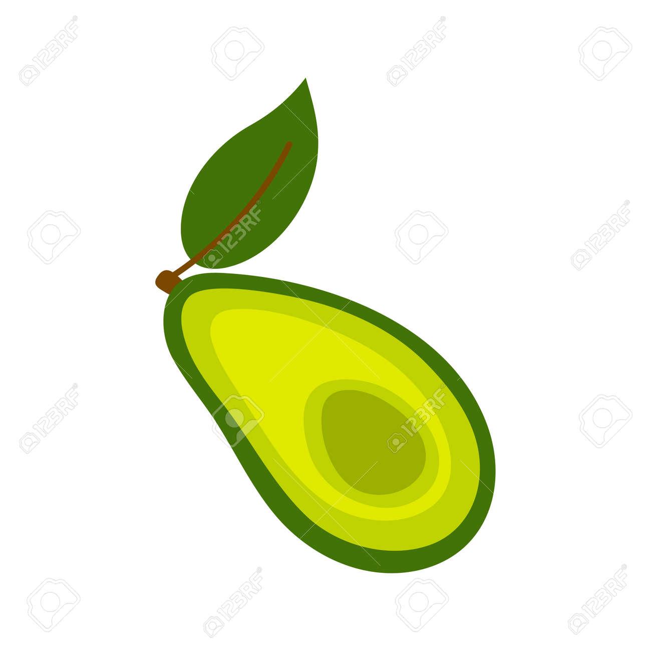 Avocado icon. Flat illustration of avocado vector icon isolated on white background. - 169771951