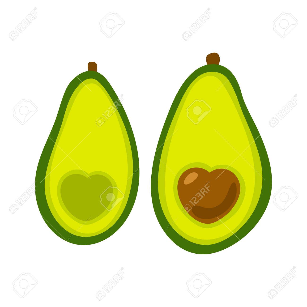 Avocado icon. Flat illustration of avocado vector icon isolated on white background. - 169772069