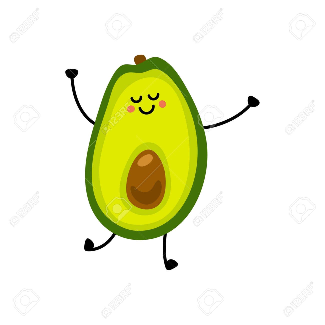 Avocado icon. Flat illustration of avocado vector icon isolated on white background. - 169772074