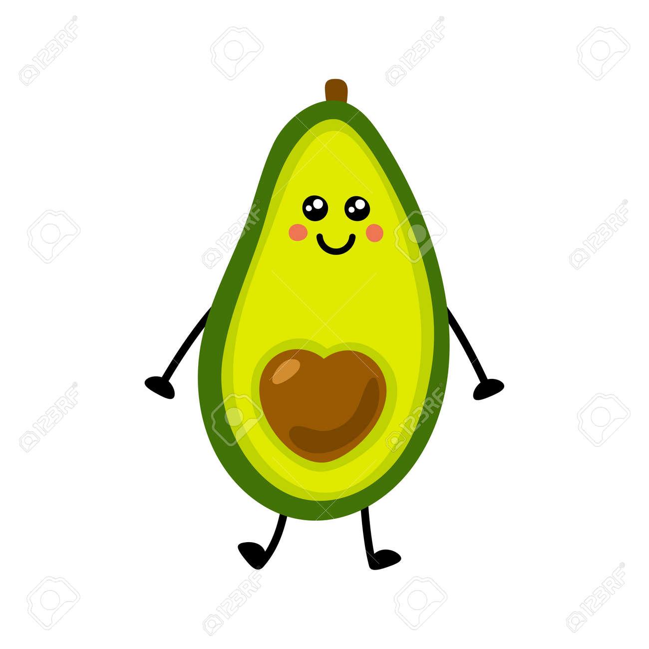 Avocado icon. Flat illustration of avocado vector icon isolated on white background. - 169772077