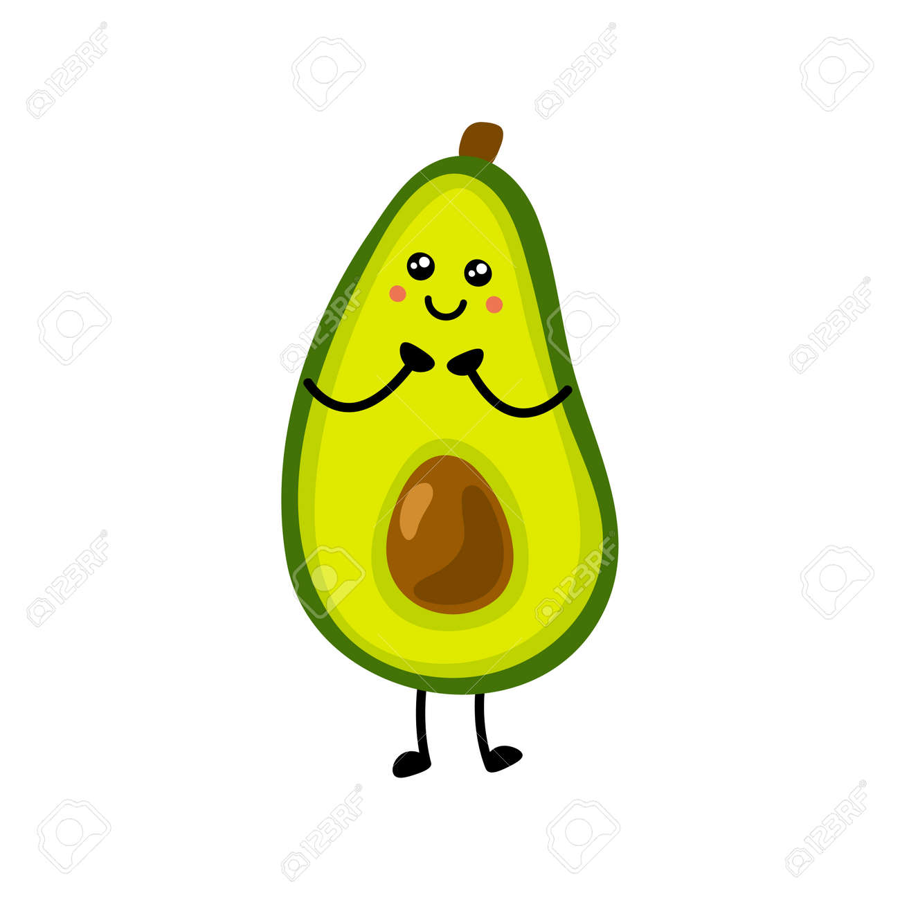 Avocado icon. Flat illustration of avocado vector icon isolated on white background. - 169772078