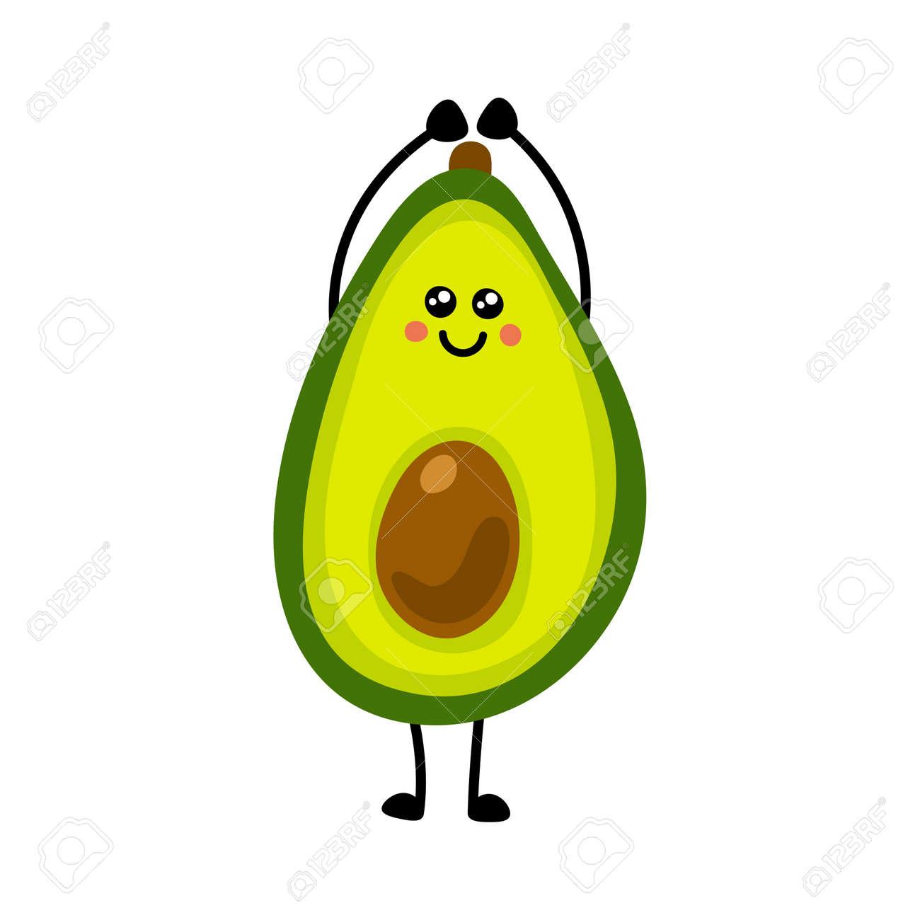 Avocado icon. Flat illustration of avocado vector icon isolated on white background. - 169772083