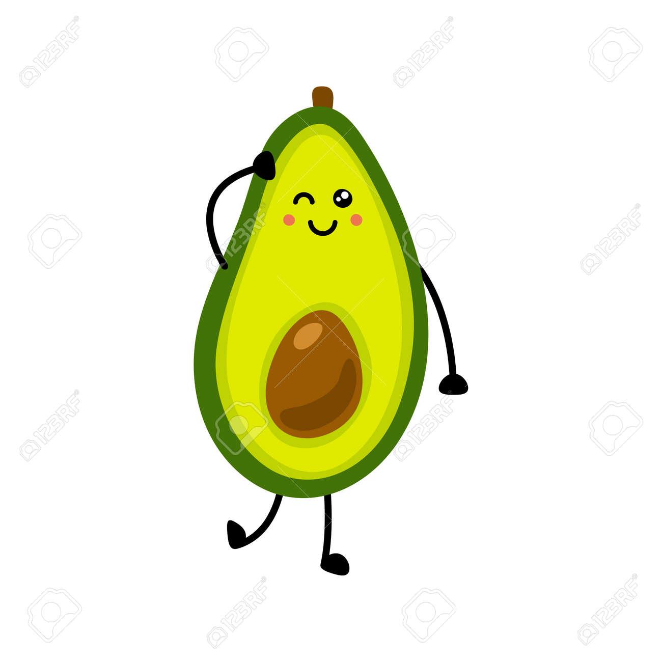 Avocado icon. Flat illustration of avocado vector icon isolated on white background. - 169772080