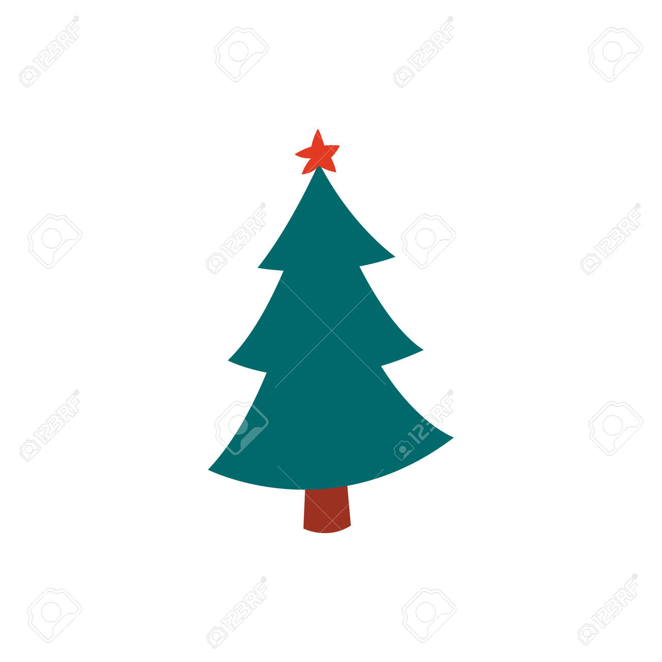 Christmas tree. Modern design. Christmas and New Year s elements for decoration. Vector illustration isolated on white. - 169772084