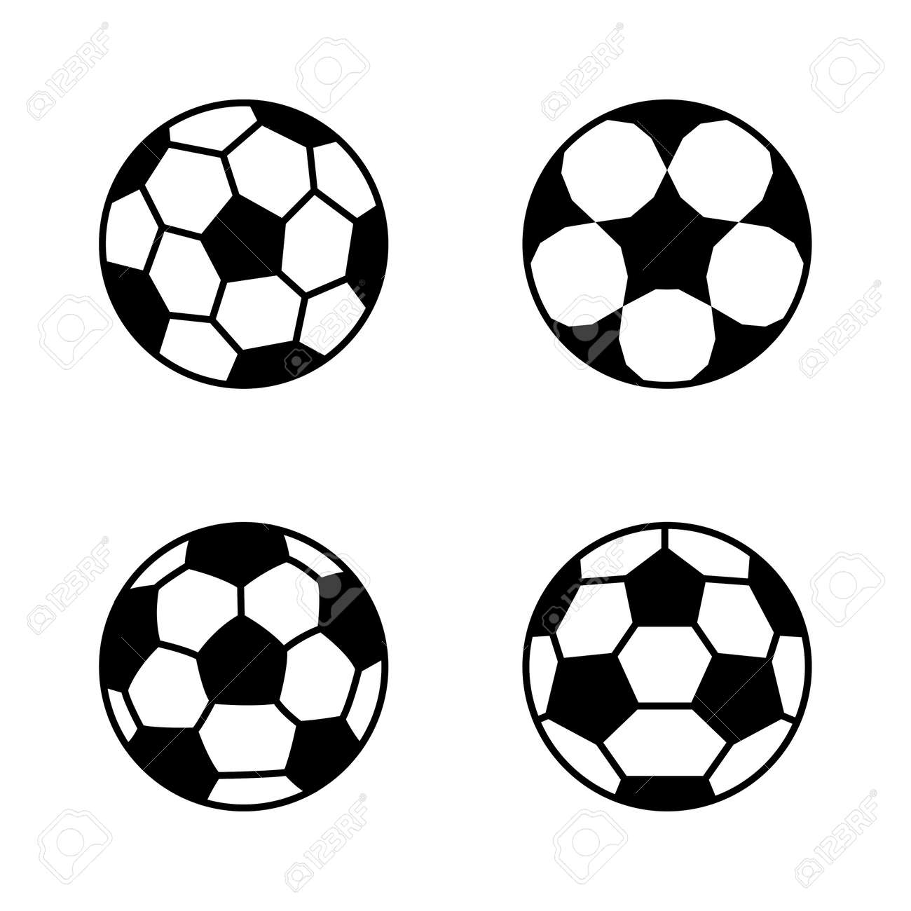 Soccer ball, simple style, icon. Vector illustration isolated on white background. - 169772081