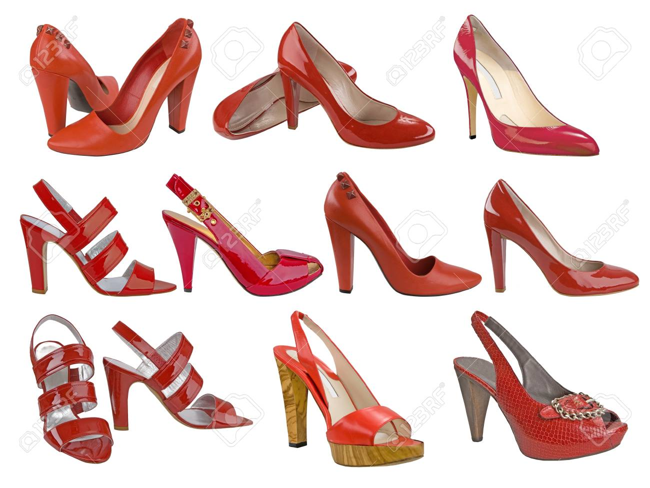red shoes collection Stock Photo - 11514417