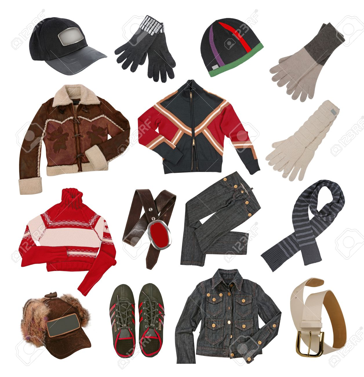 Winter Clothes For Men Stock Photo Picture And Royalty Free Image