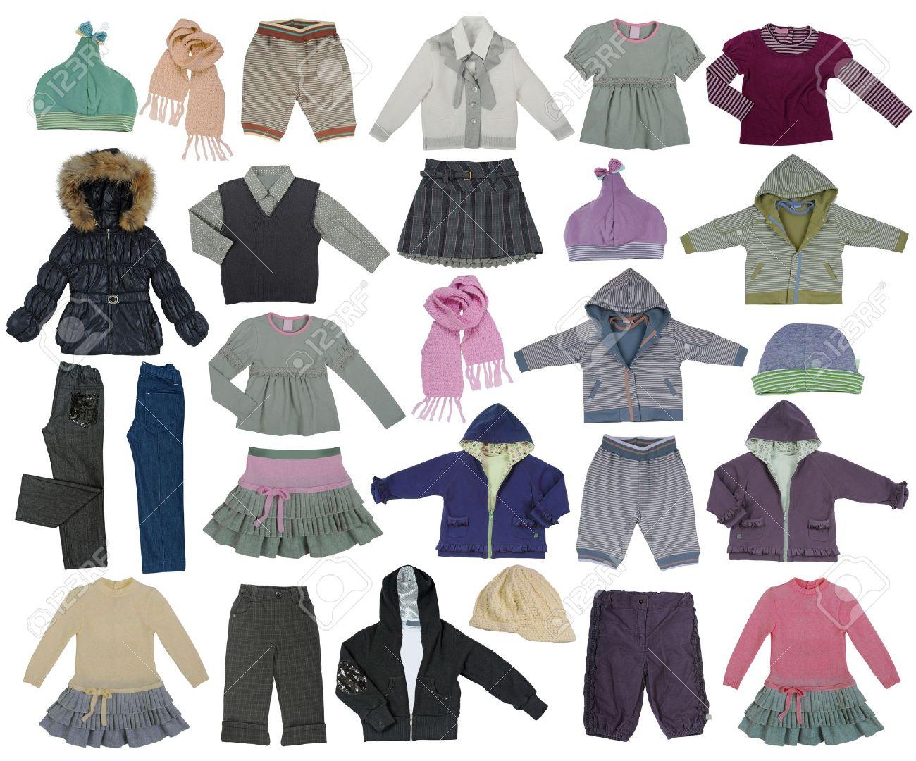 Collection de vêtements enfants