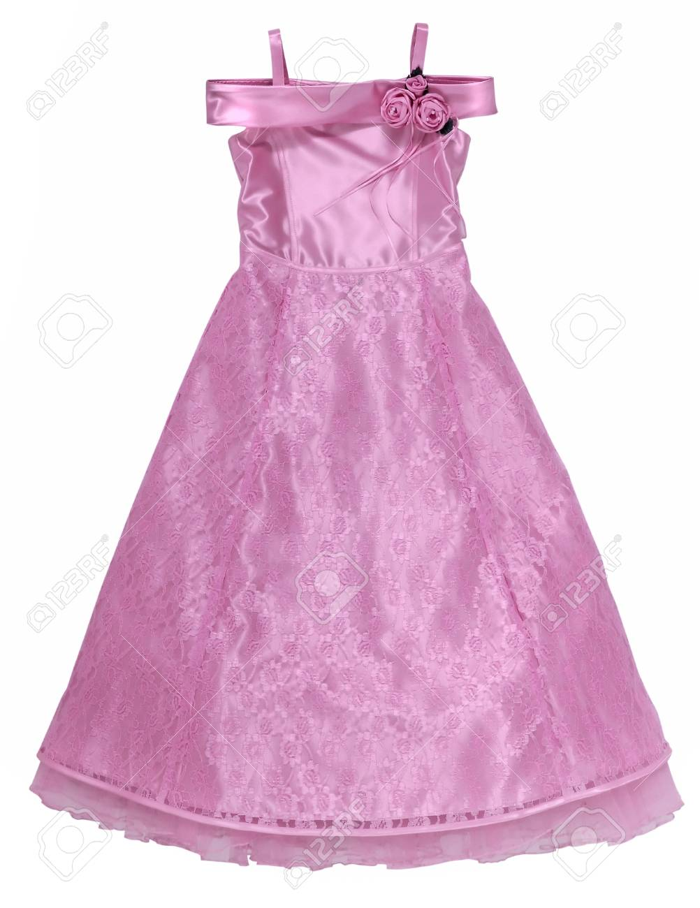 pink dress with roses Stock Photo - 13008181