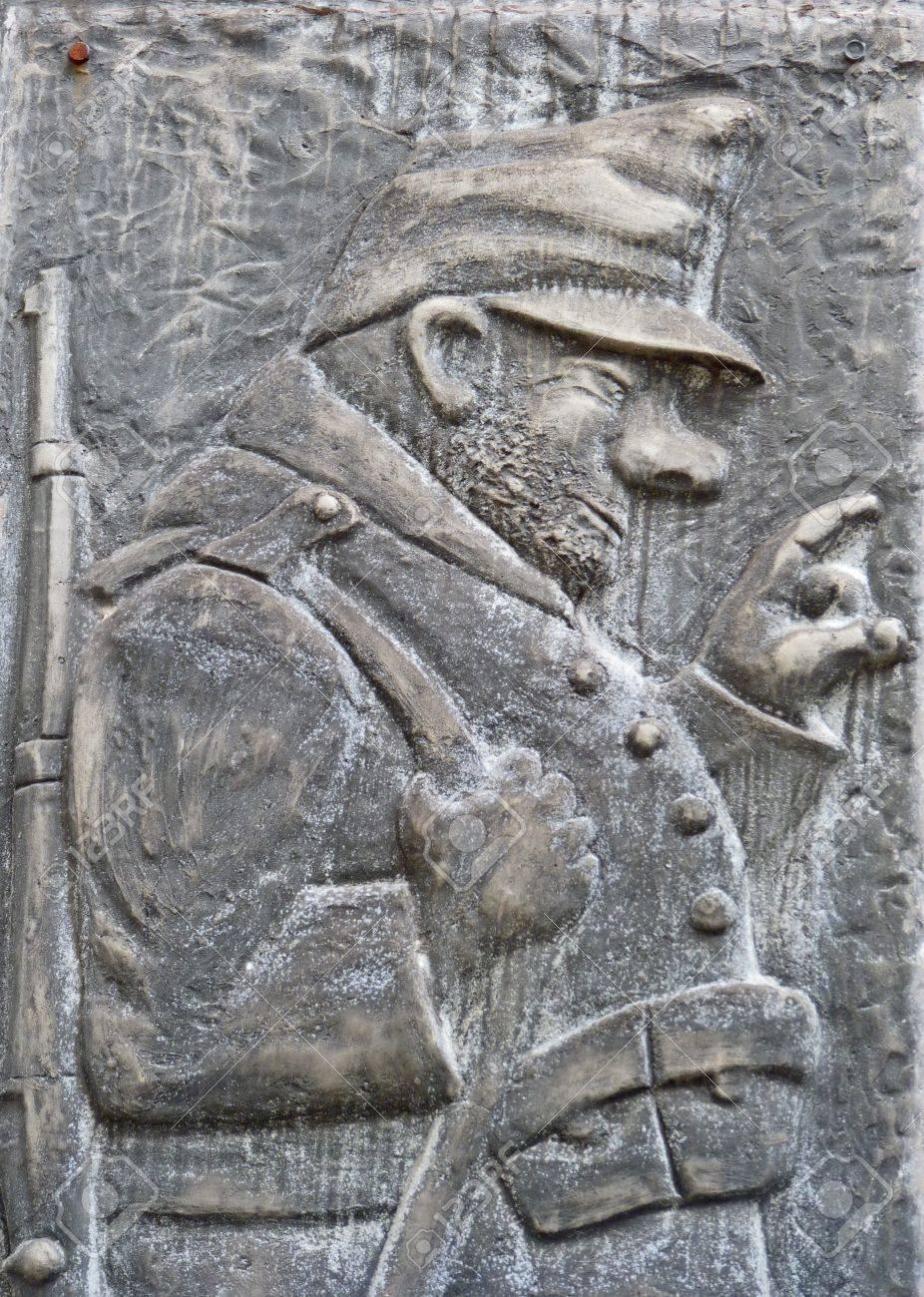 Hunter Skulptur An Der Wand Lizenzfreie Fotos Bilder Und Stock Fotografie Image 21853081