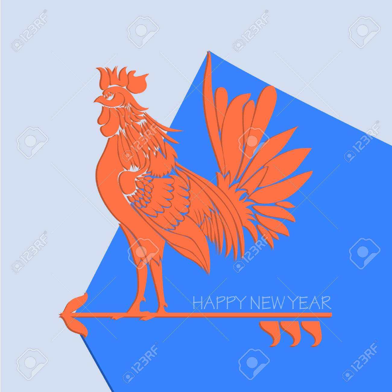 Golden rooster chinese calendar symbol of 2017 year christmas golden rooster chinese calendar symbol of 2017 year christmas card with icon of the biocorpaavc