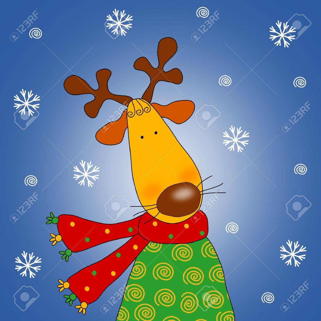 Reindeer - Cartoon character Stock Photo - 9747959