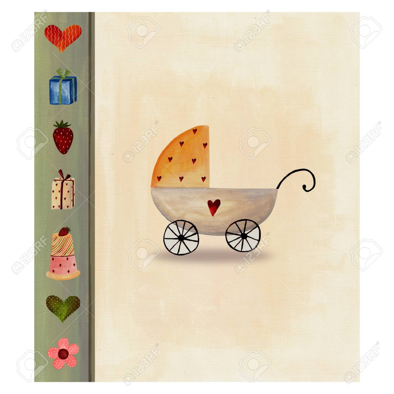 Baby arrival announcement card Stock Photo - 11696634