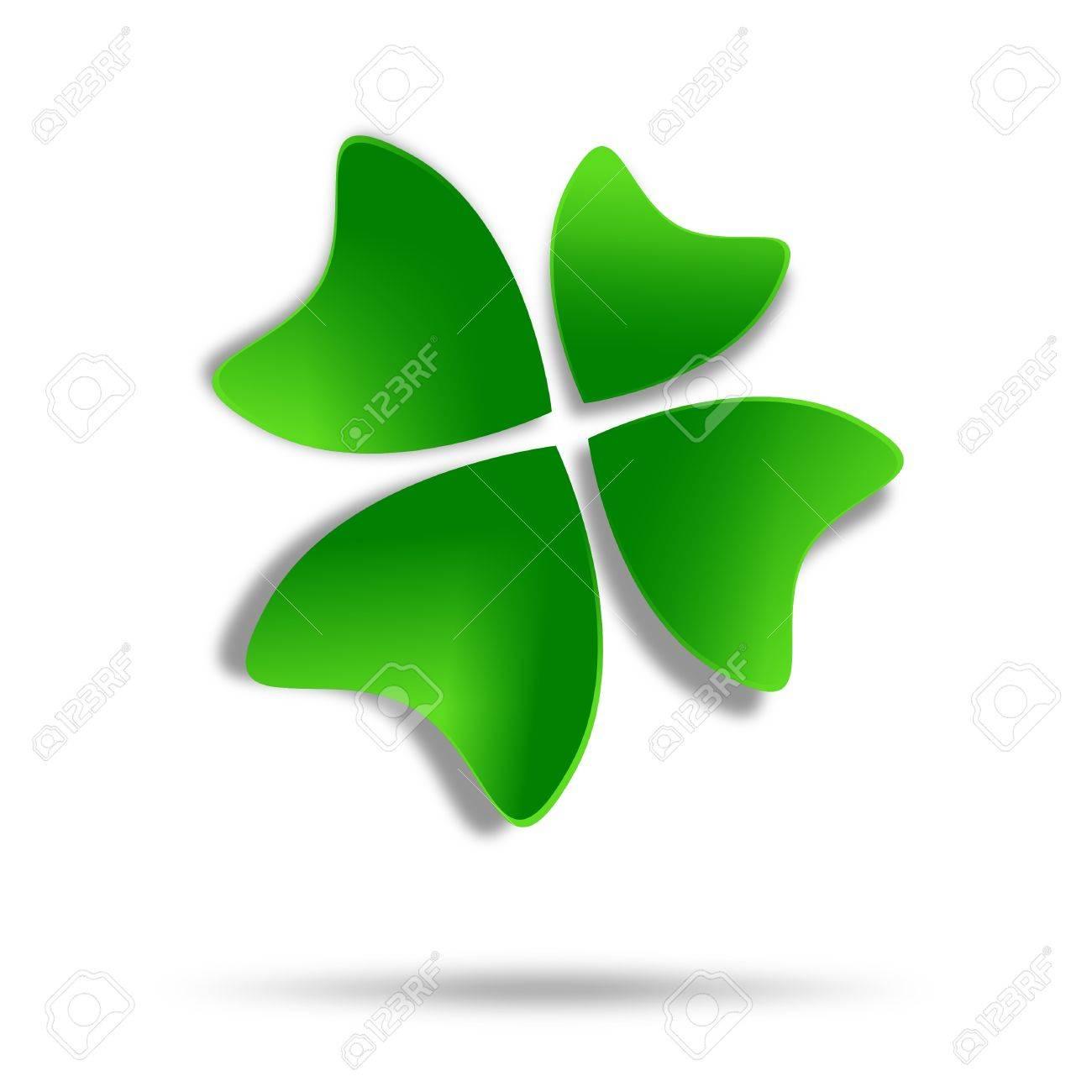 Multicolor four-leaf clover logo design Stock Photo - 19751046