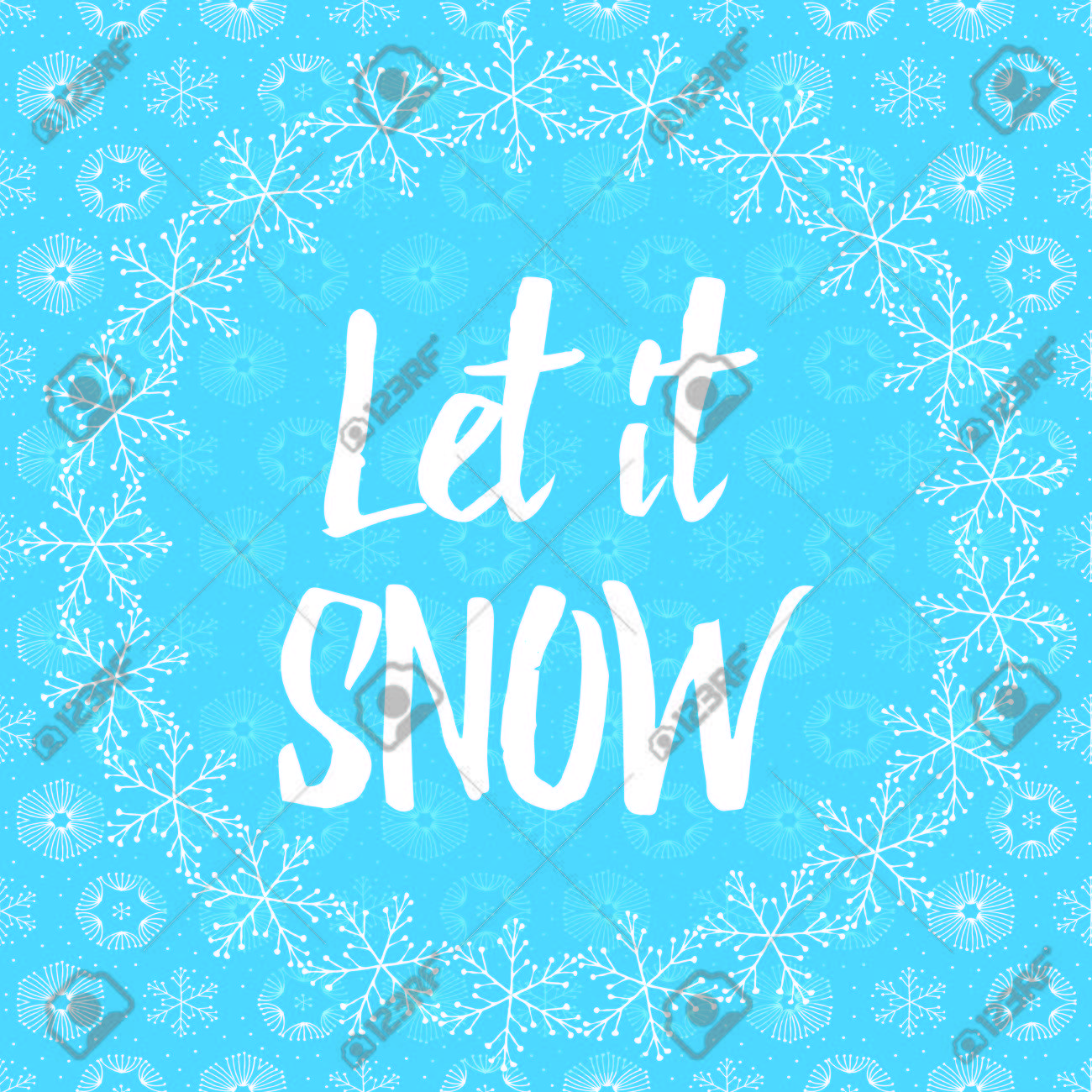 Let it snow letters covered with snowflakes on light blue snowy let it snow letters covered with snowflakes on light blue snowy background stock vector 49605657 madrichimfo Images