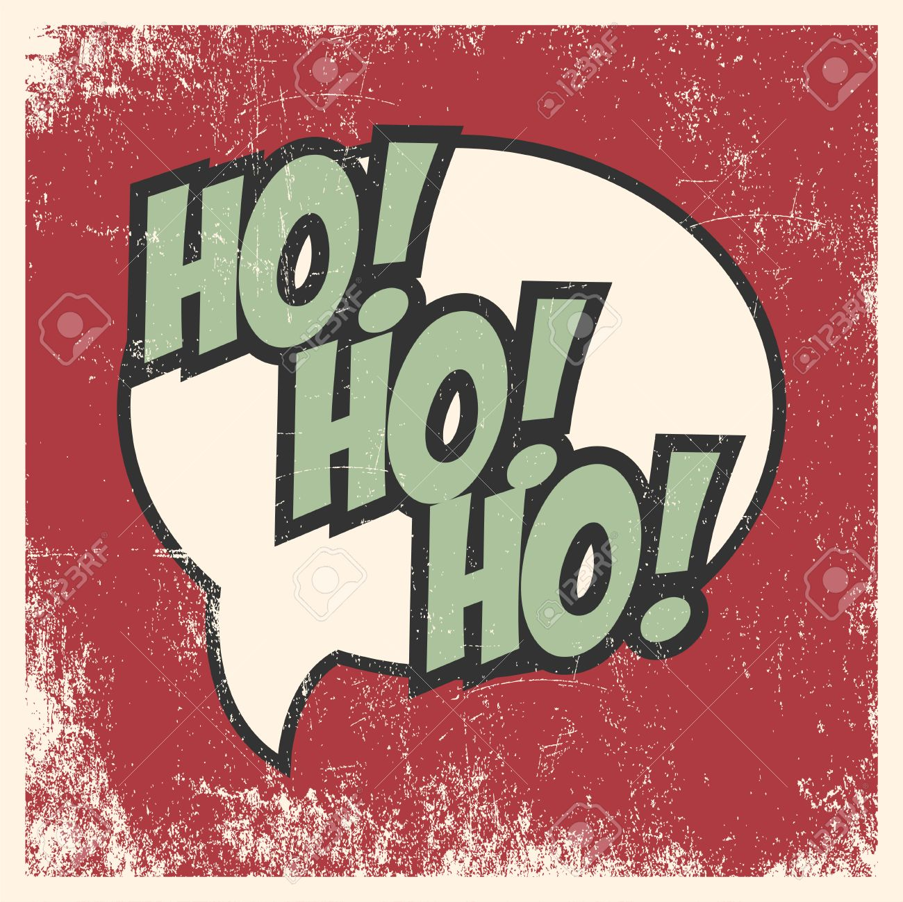 Merry Christmas Pop Art Card Stock Vector
