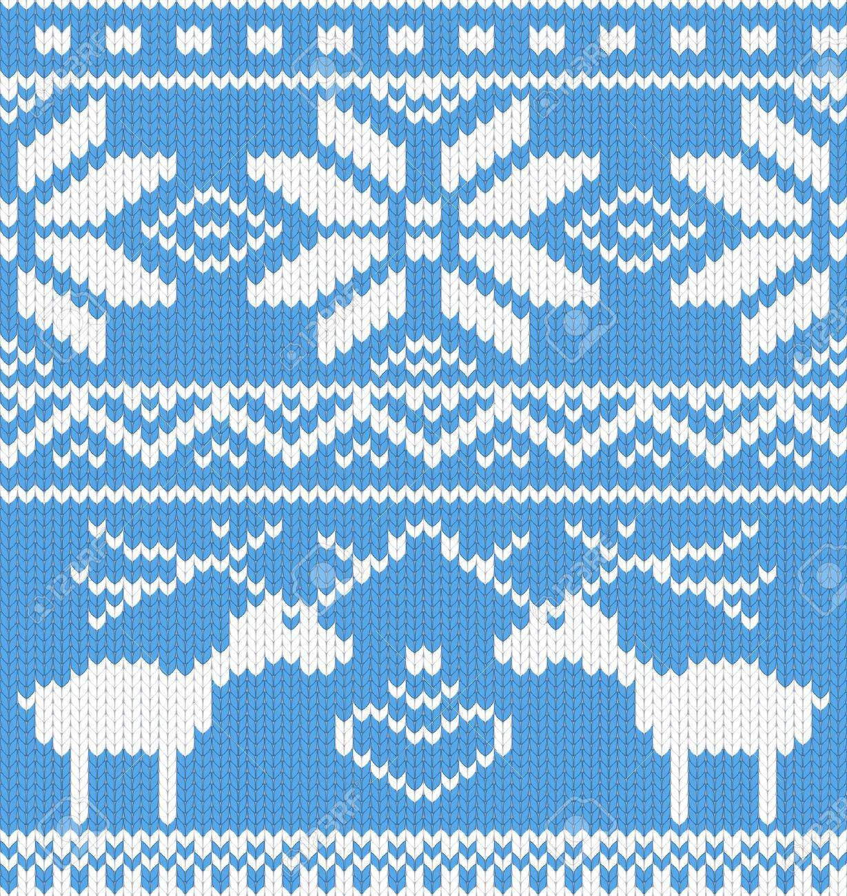 Seamless knitted pattern with deer. Vector illustration. Stock Vector - 11662222