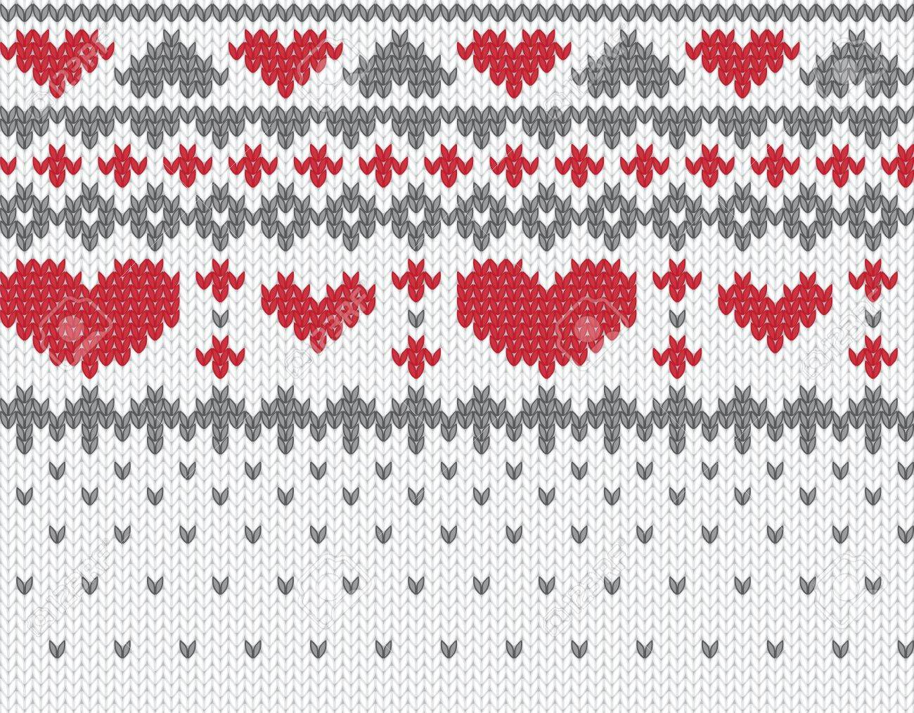 Seamless knitted pattern for winter clothing. Vector illustration. Stock Vector - 11967532