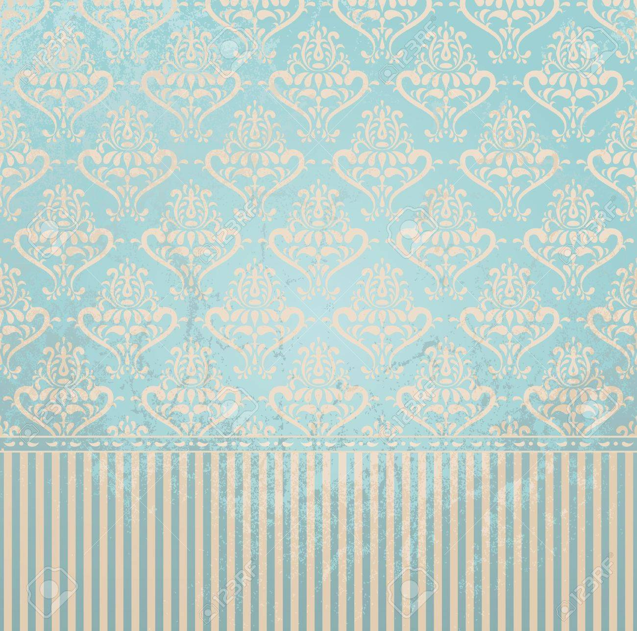 Vintage wallpaper in grunge style  Grunge effect can be removed  EPS 8 vector illustration Stock Vector - 12429337