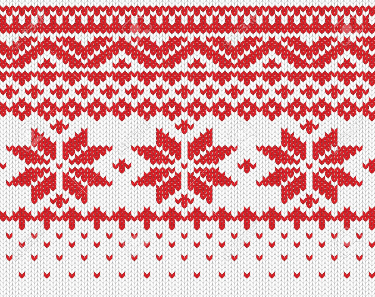 Red snowflake seamless knitted background  EPS 8 vector illustration Stock Vector - 13091633