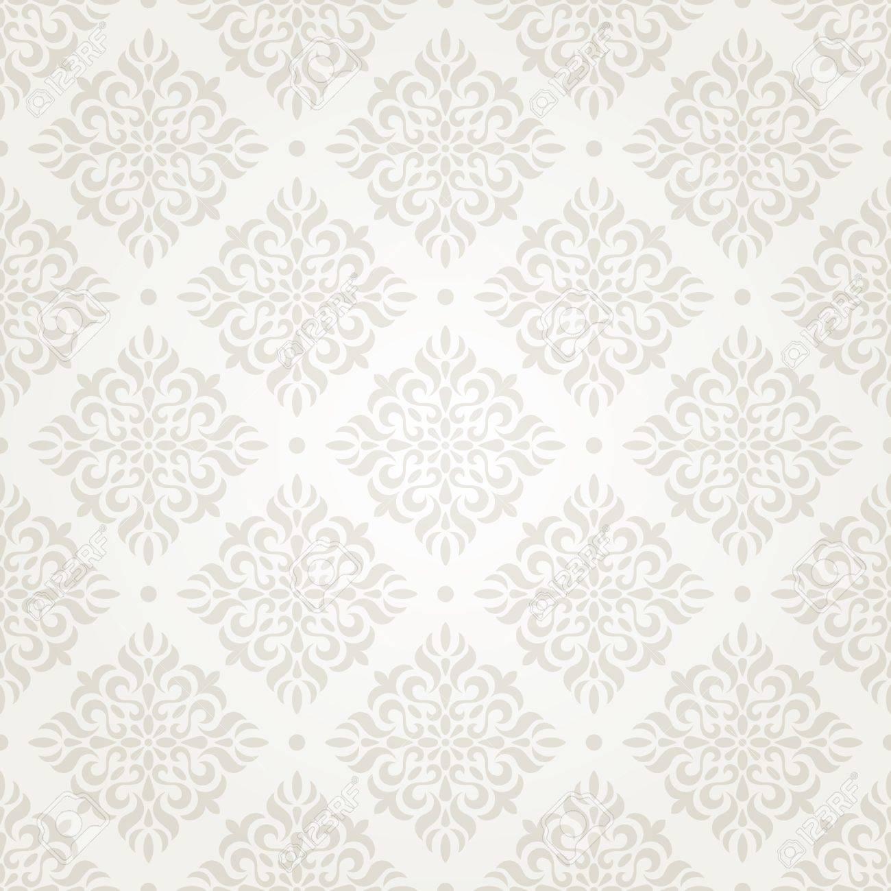 Silver vintage seamless wallpaper Stock Photo - 13860009