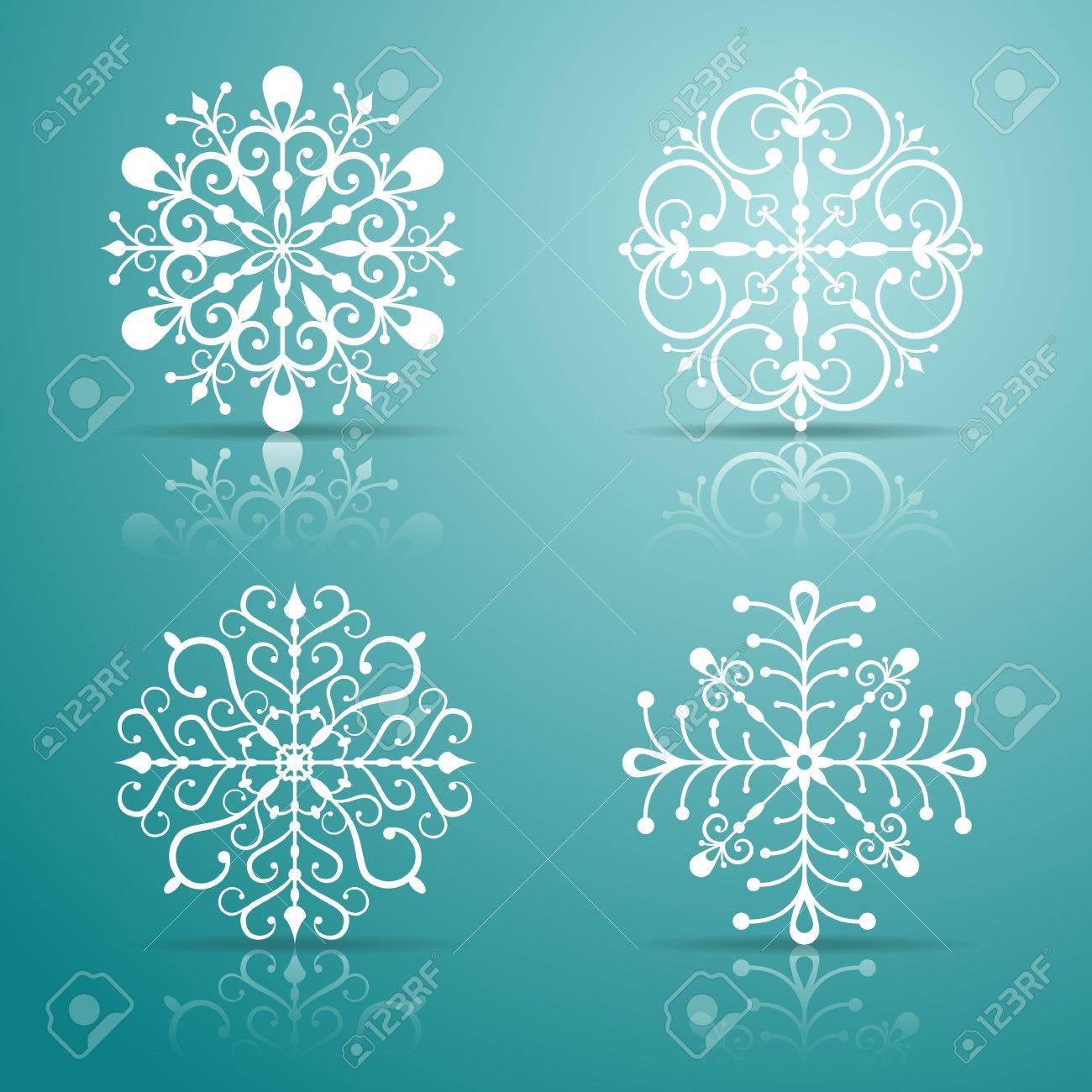 Decorative vector Snowflakes set for Christmas design  EPS 10 vector illustration  Contains opacity masks Stock Vector - 14298457