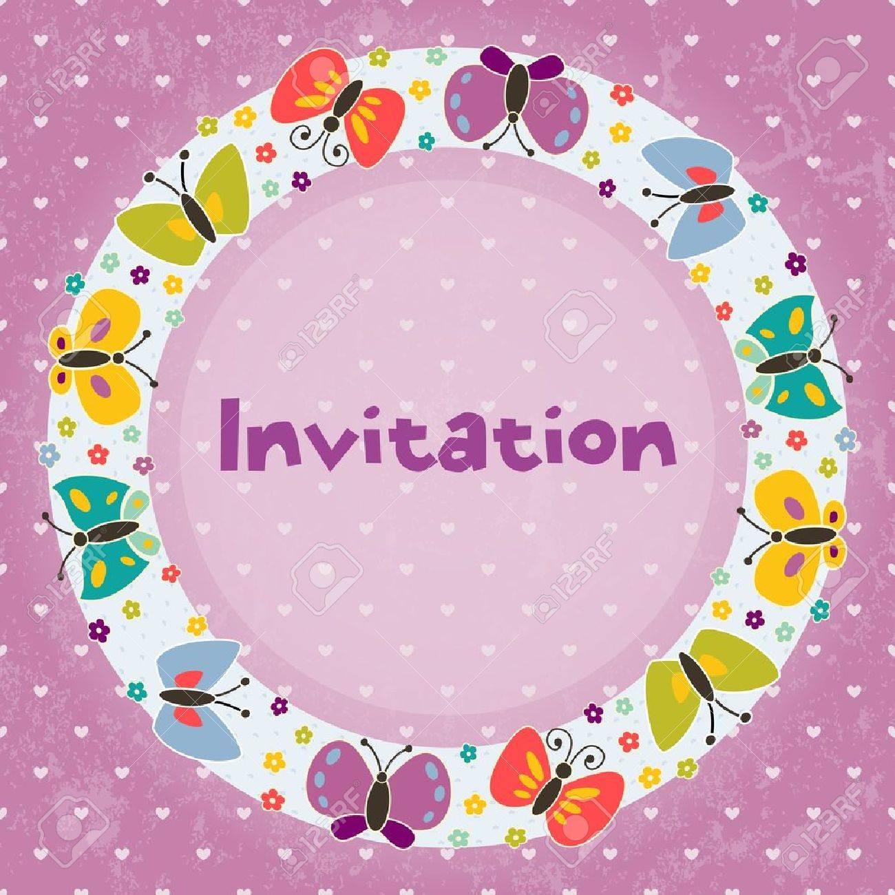Tarjeta De Invitación Para Los Partidos De Los Niños S Cumpleaños Y Otros Eventos