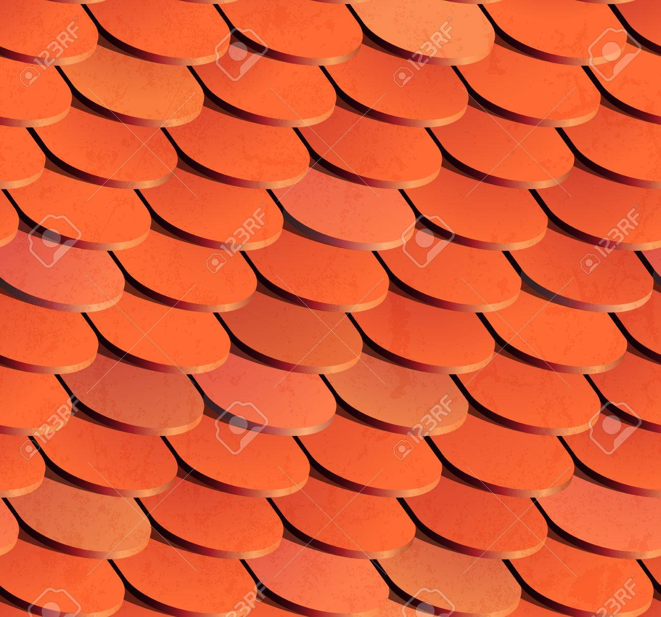 シームレスな屋根瓦eps 10 ベクトル イラストのイラスト素材ベクタ