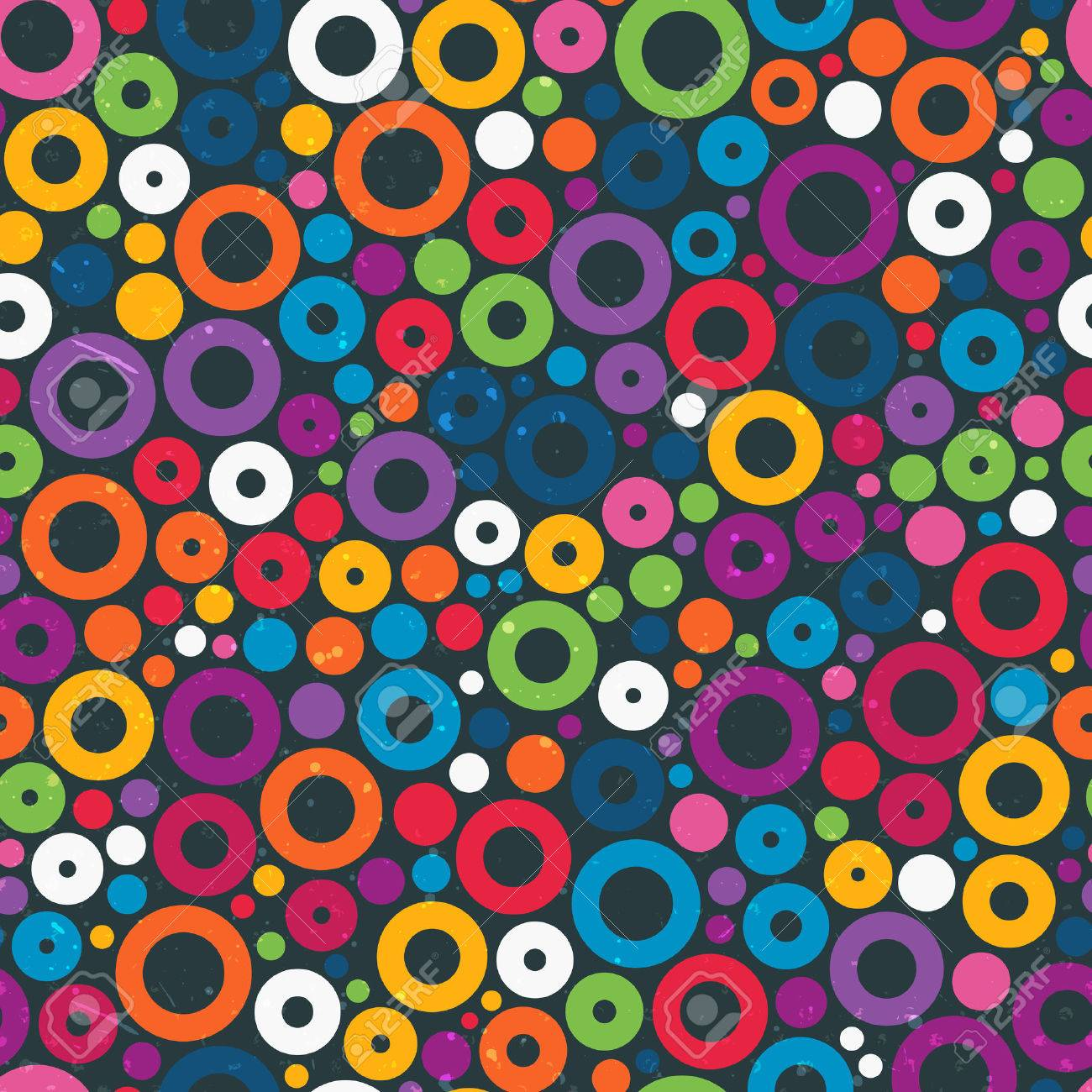 Colorful seamless pattern with circles Stock Vector - 24947633