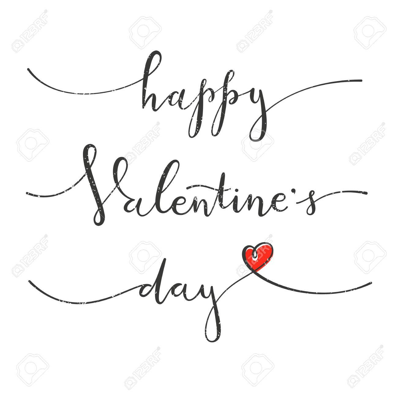 Joyeuse Saint Valentin Carte De Voeux Avec Motif A Dessin A La