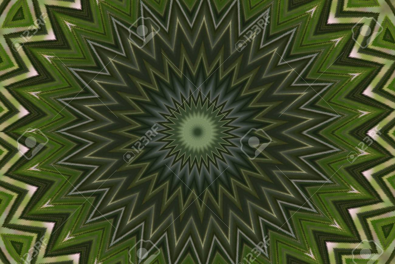 Geometrical green abstract decorative pattern Stock Photo - 4343807