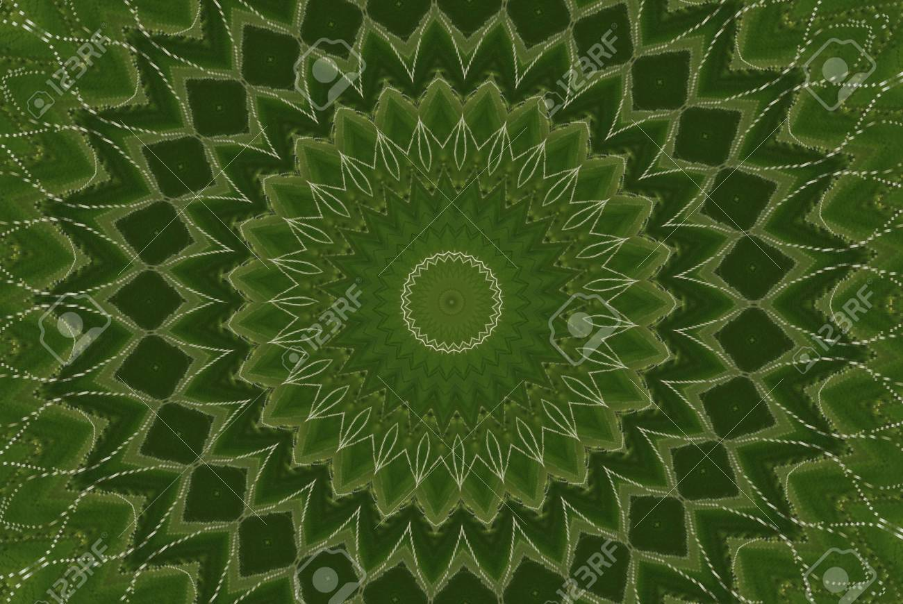 Geometrical green abstract decorative pattern Stock Photo - 4351262