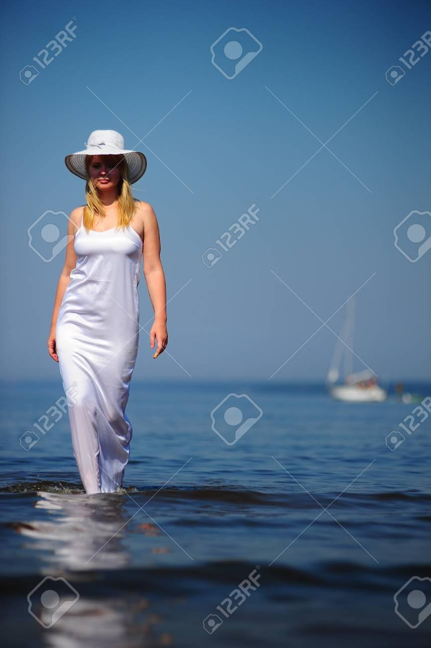 Girl in white Stock Photo - 9724514