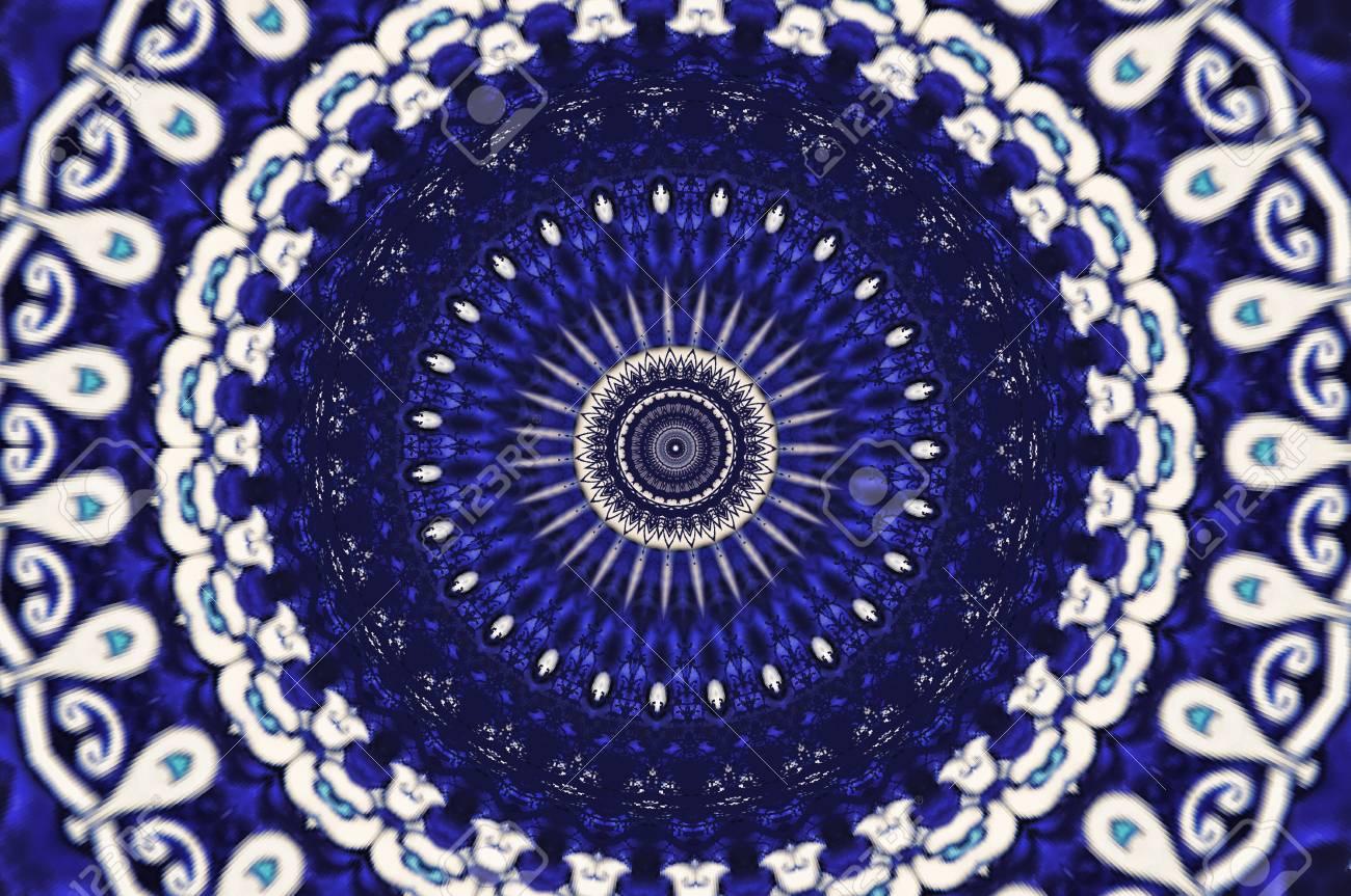oriental ornament in blue tones Stock Photo - 8699608