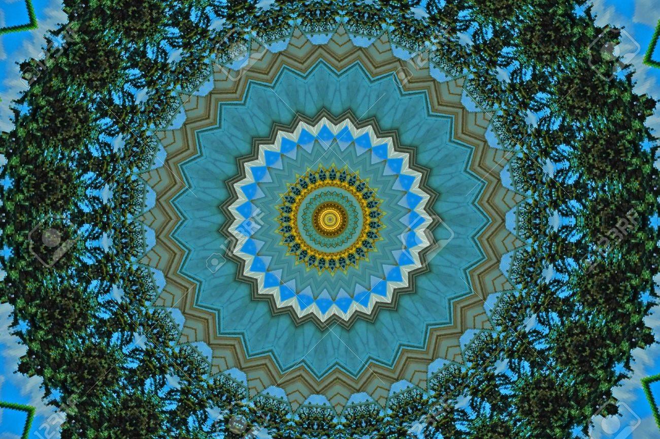 Computer generated kaleidoscope design pattern Stock Photo - 8704482