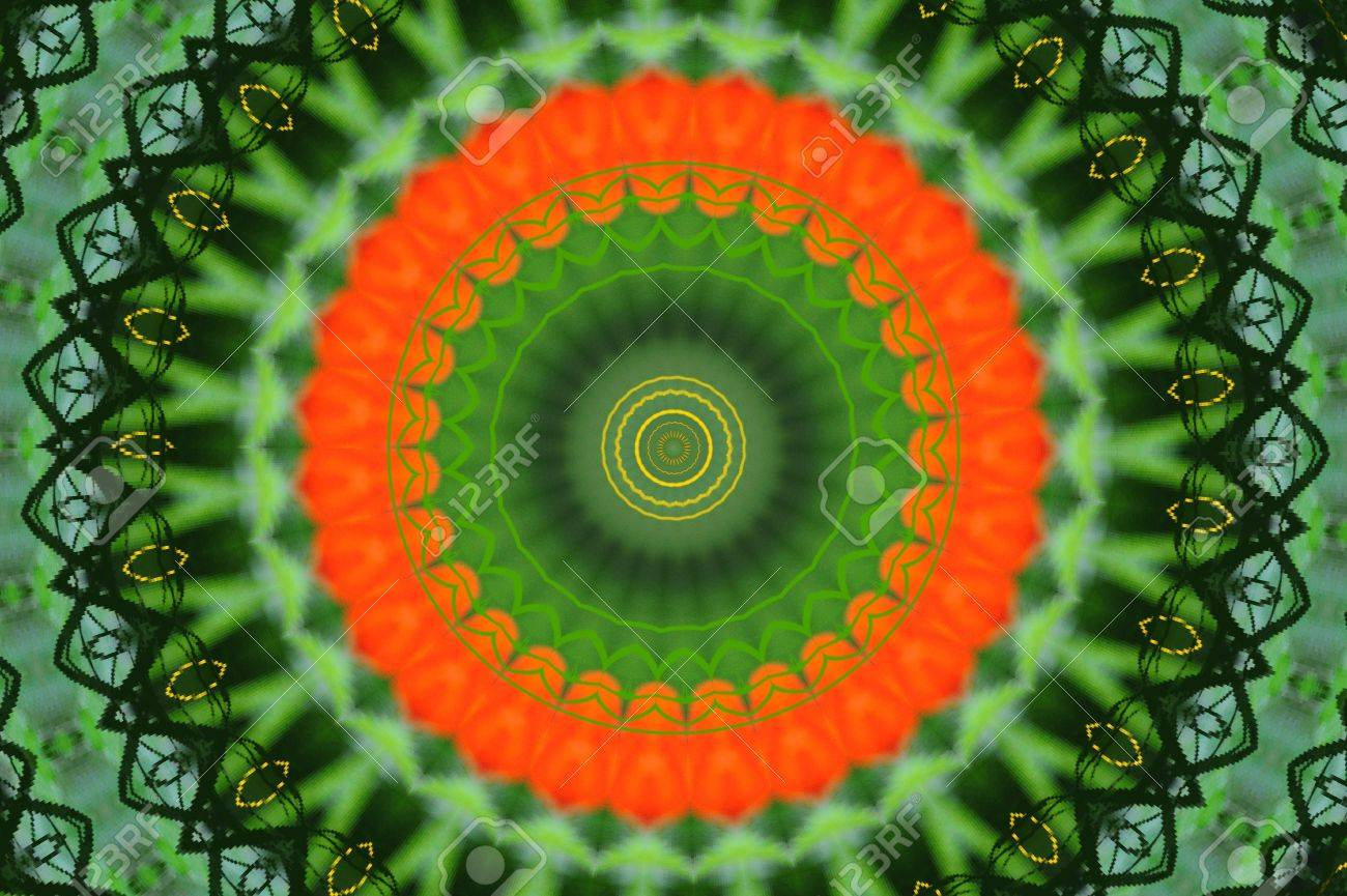 Pretty kaleidoscope in rainbow colors. Stock Photo - 8865524
