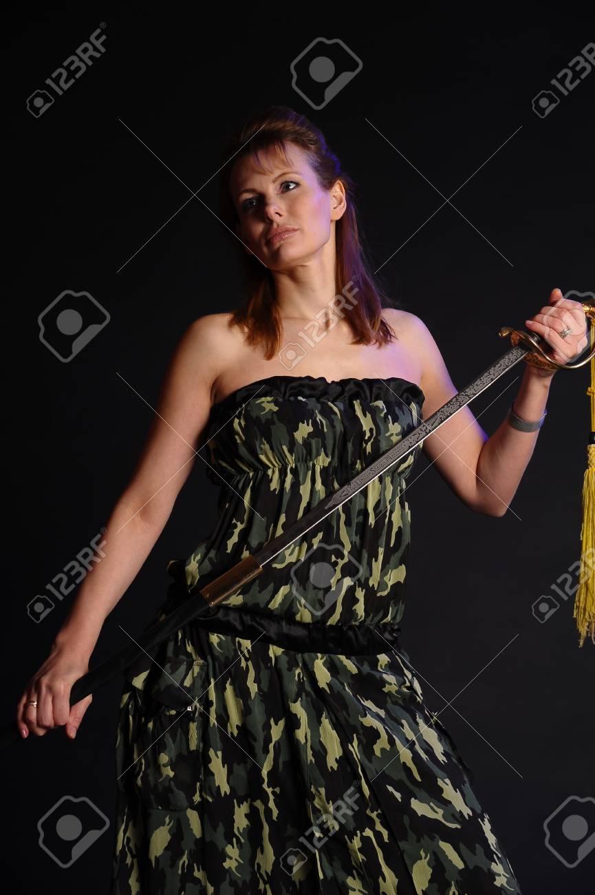 girl with sword Stock Photo - 9238471
