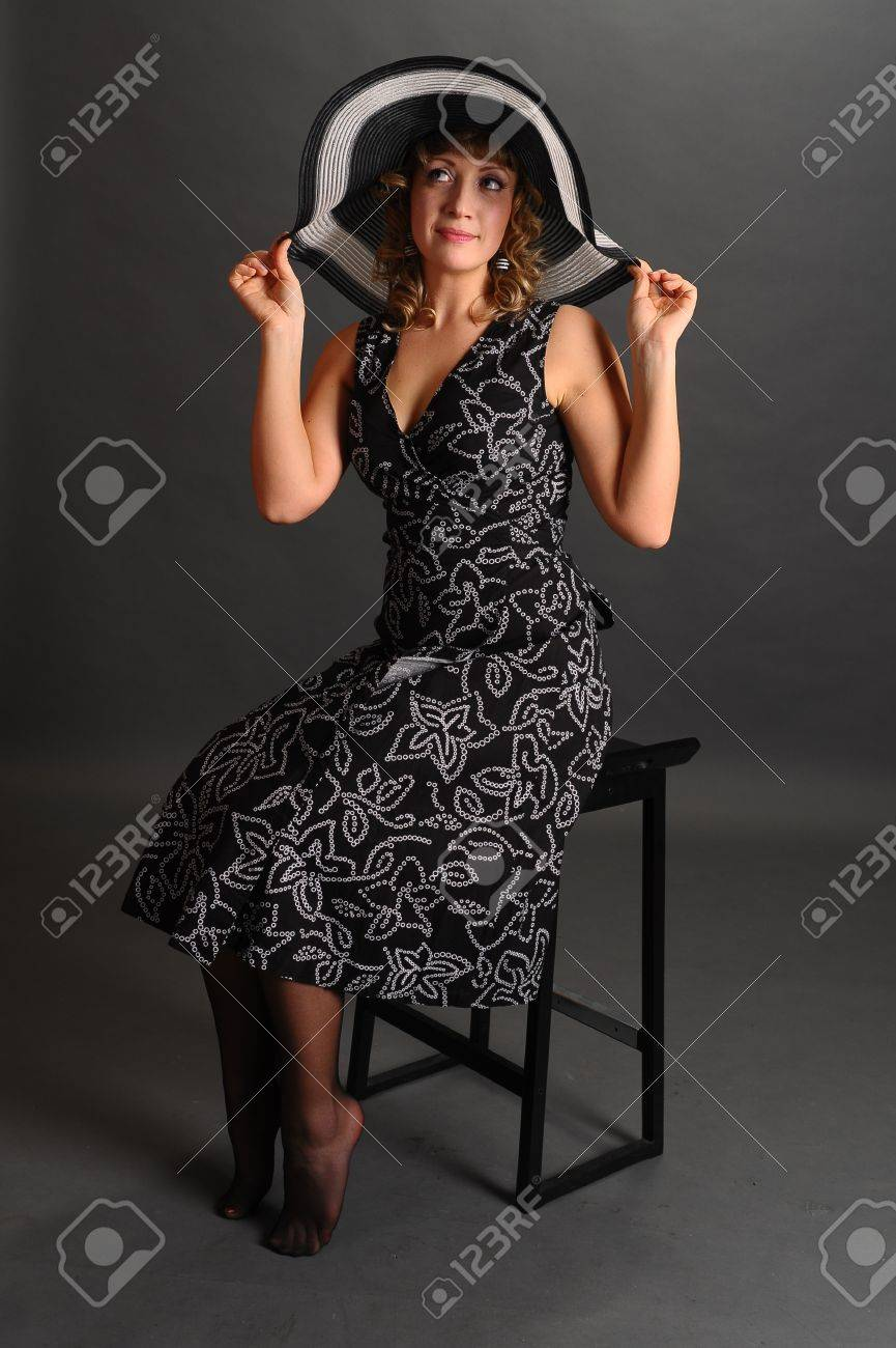 pin up girl in a hat Stock Photo - 9266804