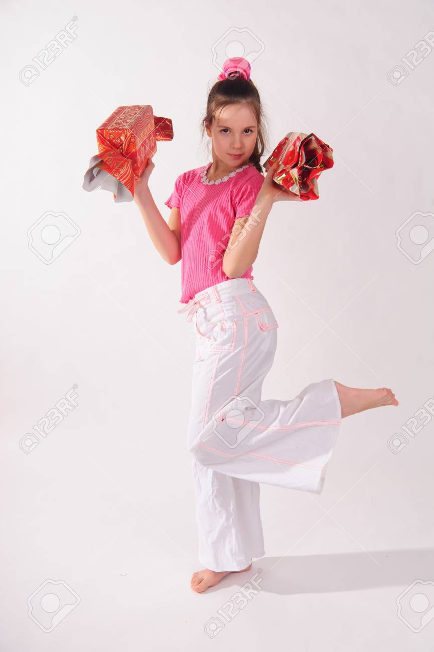 girl with big candy Stock Photo - 9318778
