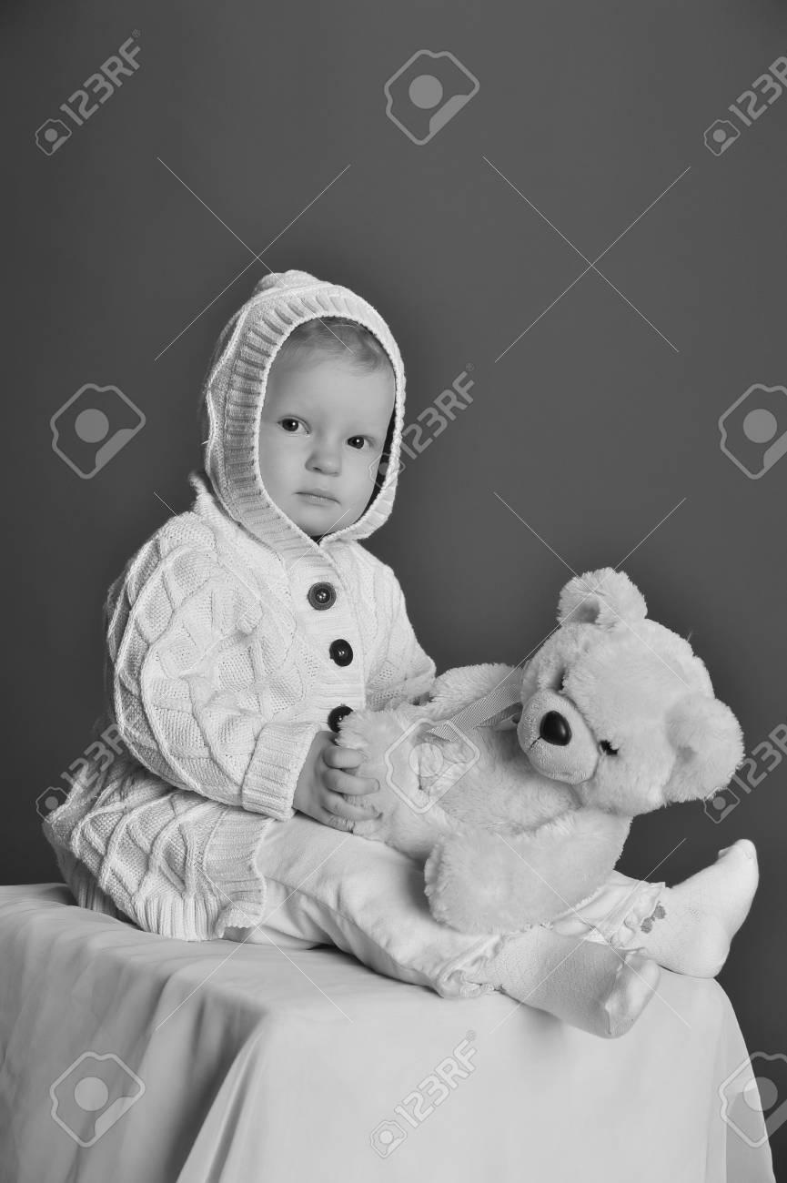 baby and teddy bear Stock Photo - 9381337