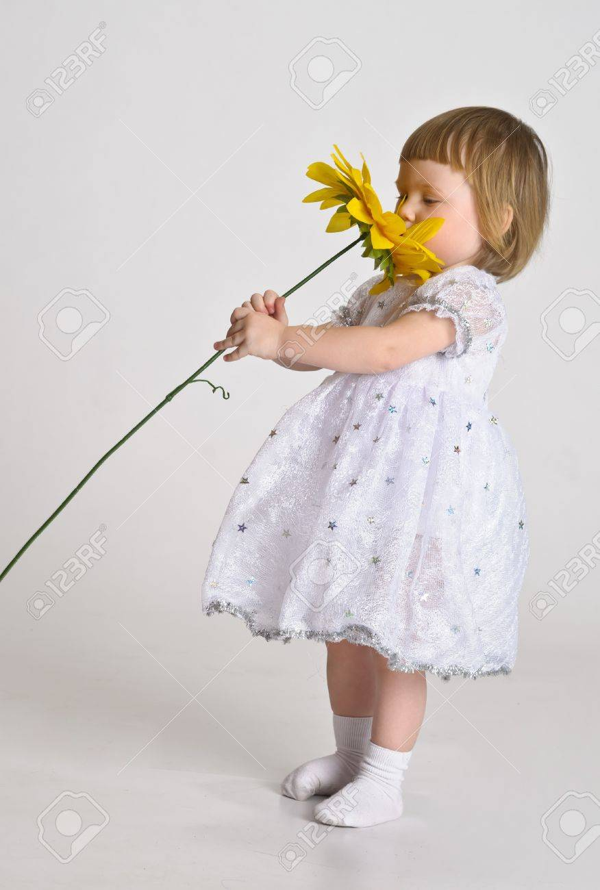 little girl with a sunflower Stock Photo - 10747534