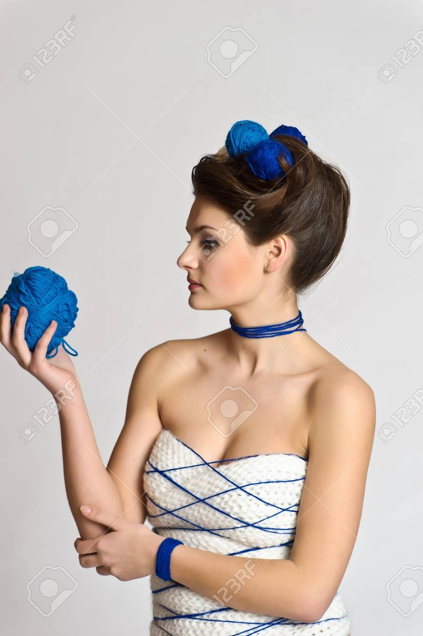 Fashion woman in knitting style Stock Photo - 10584592