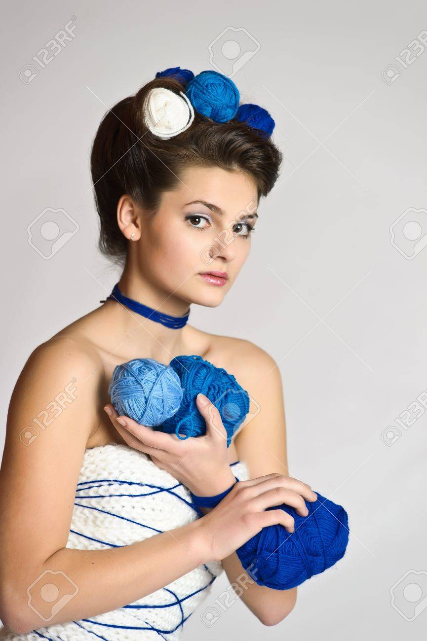 Fashion woman in knitting style Stock Photo - 10702438