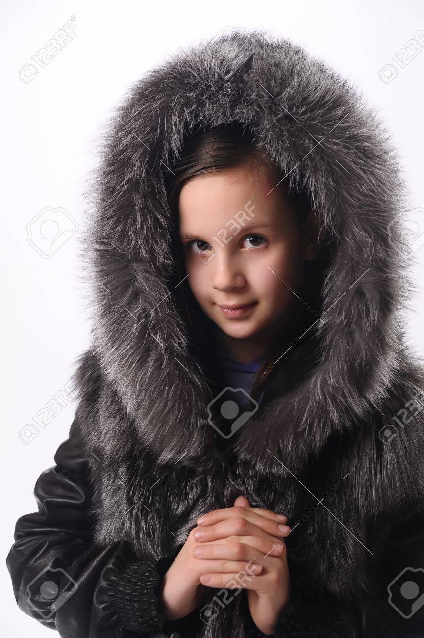 girl in a fur coat Stock Photo - 10079650