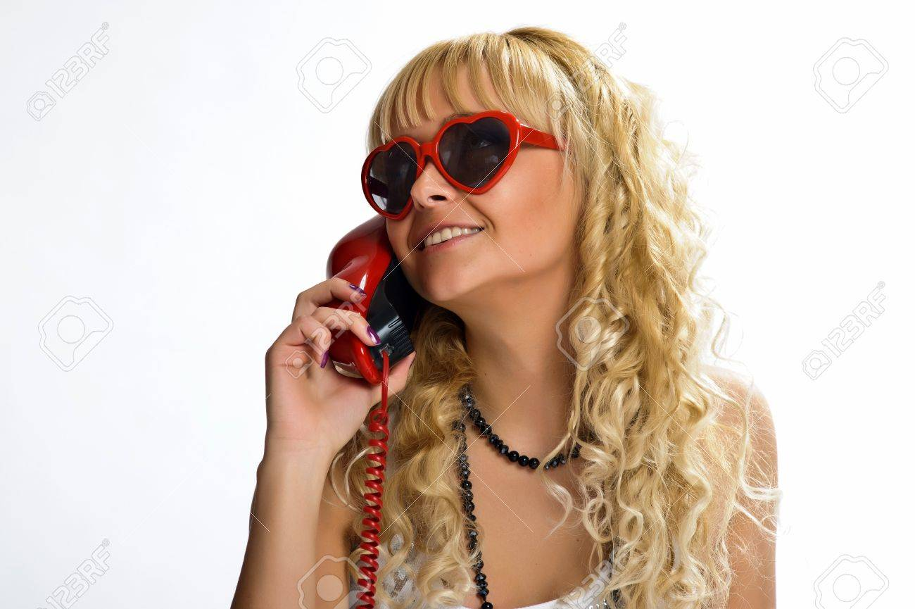 The girl  speaking by phone Stock Photo - 10243465