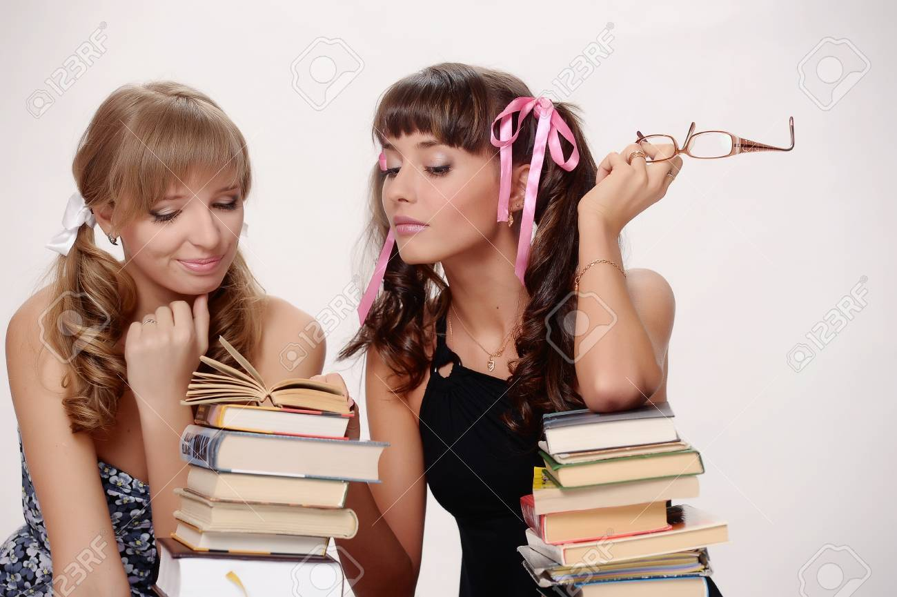 students tired after studying Stock Photo - 10076467
