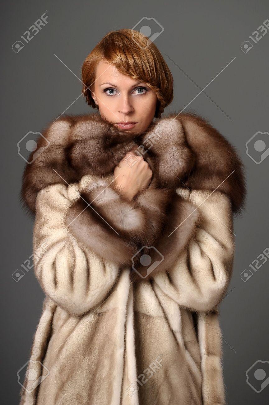 girl in a mink coat Stock Photo - 10326607